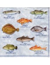 "Салфетка для декупажа ""Рыбы"", 33х33 см, Голландия"