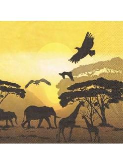 Салфетка для декупажа Сафари в Африке, 33х33 см, Голландия