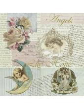 "Салфетка для декупажа HF13308405 ""Ангелы и письма"", 33х33 см, Голландия"