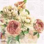 "Салфетка для декупажа HF13308530 ""Розы Элизабет,"", 33х33 см, Голландия"