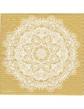 """Салфетка для декупажа HF13308786 """"Цветочное кружево золото"""", 33х33 см, Голландия"""