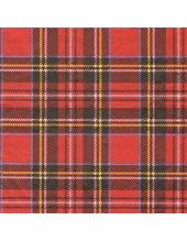 "Салфетка для декупажа HF13308790 ""Шотландка красная"", 33х33 см, Голландия"