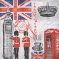 """Салфетка для декупажа HF13308935 """"Время в Лондоне"""", 33х33 см, Голландия"""