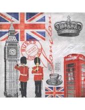 """Салфетка для декупажа """"Время в Лондоне"""", 33х33 см, Голландия"""