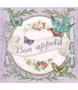"Салфетка для декупажа ""Bon appetit"", 33х33 см, Ambiente (Голландия)"