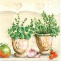 """Салфетка для декупажа """"Кухня с пряными травами"""", 33х33 см, Голландия"""