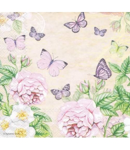 """Салфетка для декупажа """"Ботанический сад кремовый"""", 33х33 см, Голландия"""