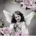 "Салфетка для декупажа ""Ангел с розами"", 33х33 см, Ambiente (Голландия)"