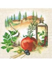 """Салфетка для декупажа """"Итальянская кухня"""", 33х33 см, Голландия"""