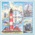 "Салфетка для декупажа HF13309625 ""Море маяк"", 33х33 см, Голландия"