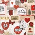 """Салфетка для декупажа HF13309805 """"Любовь"""", 33х33 см, Голландия"""