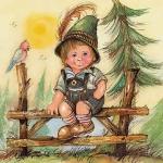 "Салфетка для декупажа HF13309820 ""Маленький Джозеф"", 33х33 см, Голландия"