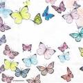 "Салфетка для декупажа HF1331000 ""Бабочки на белом"", 33х33 см, Голландия"