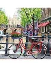"Салфетка для декупажа HF13310060 ""Амстердамский канал"", 33х33 см, Голландия"