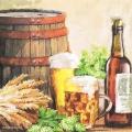 """Салфетка для декупажа """"Пиво и хмель"""", 33х33 см, Голландия"""