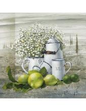 """Салфетка для декупажа """"Натюрморт с лимонами"""", 33х33 см, Голландия"""