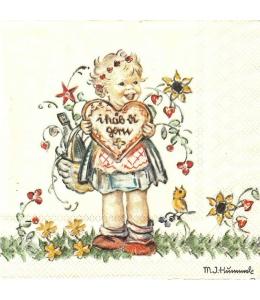 "Салфетка для декупажа HF13310285 ""Подарок Валентина"", 33х33 см, Голландия"