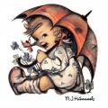 """Салфетка для декупажа HF13310290 """"Девочка под зонтиком"""", 33х33 см, Голландия"""