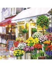 """Салфетка для декупажа """"Цветочный магазин"""", 33х33 см, Голландия"""