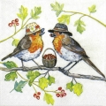 "Салфетка для декупажа ""Две птички"", 33х33 см, Голландия"