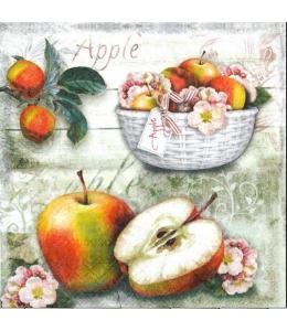 "Салфетка для декупажа ""Корзина с яблоками"", 33х33 см, Голландия"