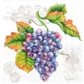 "Салфетка для декупажа ""Грозди винограда"", 33х33 см, Голландия"