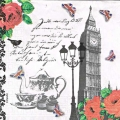 "Салфетка для декупажа ""Английский чай"", 33х33 см, Германия"