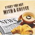 Салфетка для декупажа Утро с чашкой кофе, 33х33 см, Германия