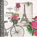 "Салфетка для декупажа ""Париж, велосипед"", 33х33 см, Германия"