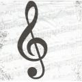 """Салфетка для декупажа """"Скрипичный ключ"""", 33х33 см, Германия"""