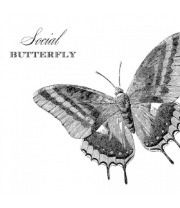 "Салфетка для декупажа ""Бабочка"", 33х33 см, Германия"