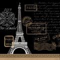 """Салфетка для декупажа """"Париж рандеву, черный"""", 33х33 см, Германия"""