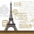 "Салфетка для декупажа ""Париж рандеву, белый"", 33х33 см, Германия"