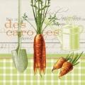 "Салфетка для декупажа ""Морковь"", 33х33 см, Германия"