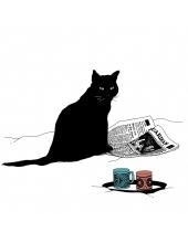 """Салфетка для декупажа """"Черная кошка"""", 33х33 см, Германия"""