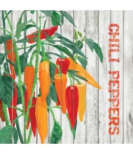 "Салфетка для декупажа ""Урожай перца"", 33х33 см, Германия"