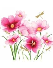 """Салфетка для декупажа """"Цветы и стрекоза"""", 33х33 см, Германия"""