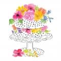 """Салфетка для декупажа """"Торт с цветами"""", 33х33 см, Германия"""