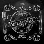 """Салфетка для декупажа """"Доска Bon Appetit"""", 33х33 см, Германия"""