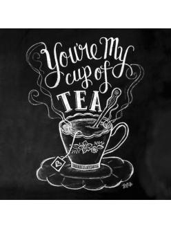 Салфетка для декупажа Доска Cap of tea, 33х33 см, Германия