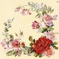 "Салфетка для декупажа ""Венок из роз"", 33х33 см, Германия"