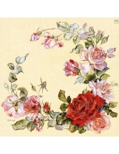 "Салфетка для декупажа ""Венок из роз"", 25х25 см, Германия"