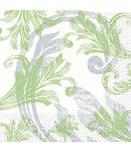 """Салфетка для декупажа """"Классический зеленый орнамент"""", 33х33 см, Германия"""