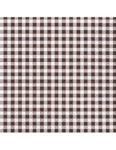 """Салфетка для декупажа """"Клетка коричневая"""", 33х33 см, Германия"""