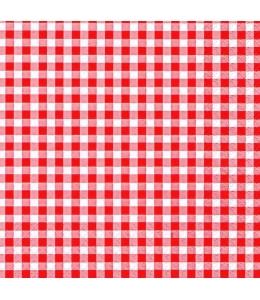 """Салфетка для декупажа """"Клетка красная"""", 33х33 см, Германия"""