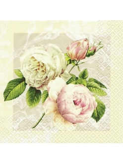 Салфетка для декупажа Английские розы, 33х33 см, Home Fashion