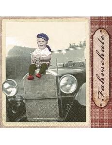"Салфетка для декупажа ""Ребенок на машине"", 33х33 см, Германия"