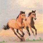 "Салфетка для декупажа HF211511 ""Лошади"", 33х33 см, Германия"