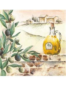 """Салфетка для декупажа """"Тосканские оливки"""", 33х33 см, Германия"""