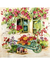 "Салфетка для декупажа ""Сад на заднем дворе"", 33х33 см, Германия"